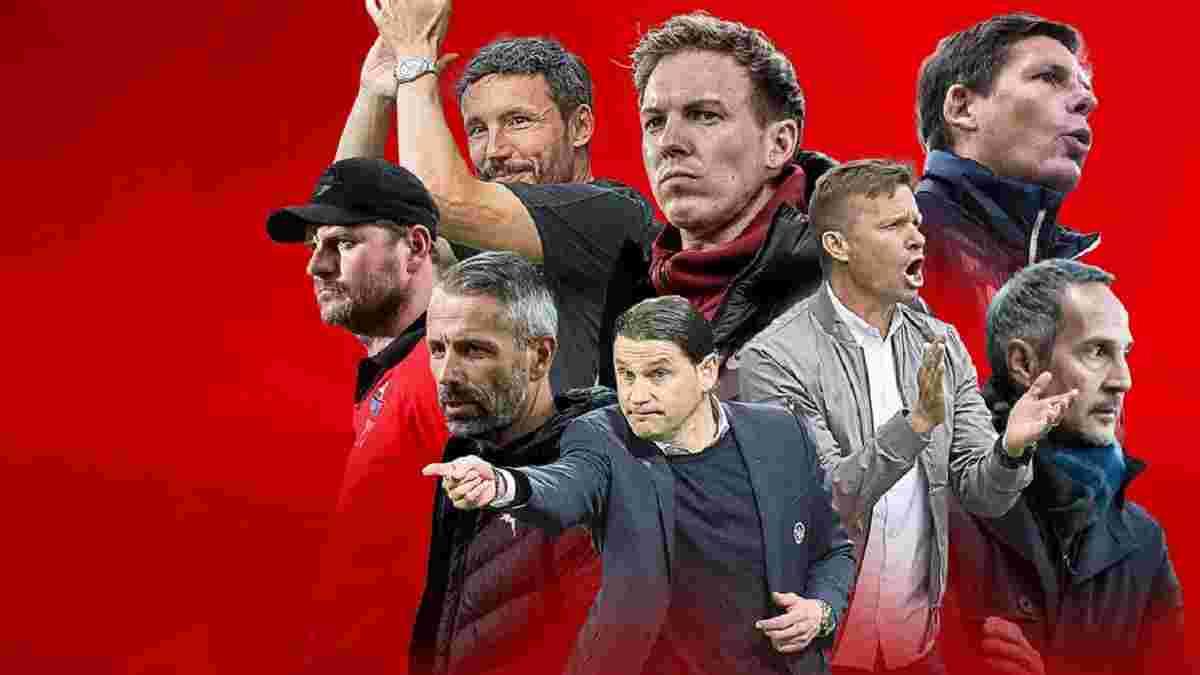 Бундеслігу не впізнати – всі топ-клуби змінили тренерів. Оригінальна спроба пригадати шаленство