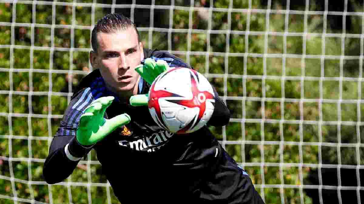 Лунін знову зіграв за Реал у таємному спарингу – українець пропустив від свого одноклубника