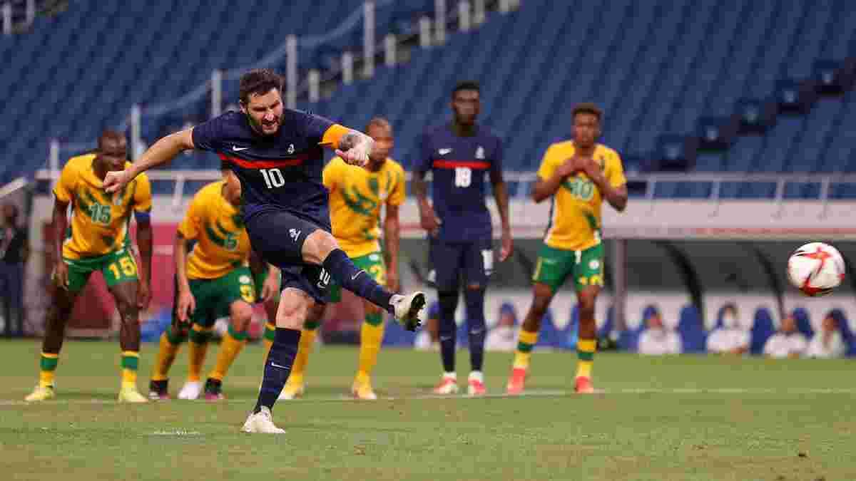 Франція відскочила в божевільному матчі на Олімпіаді – хет-трик Жиньяка покарав ефектну команду з захисником Миная