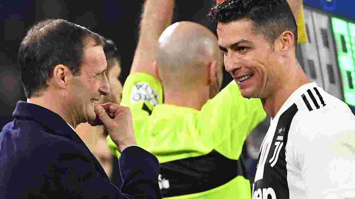 Аллегрі попередив Роналду про важливу роль португальця на наступний сезон Ювентуса