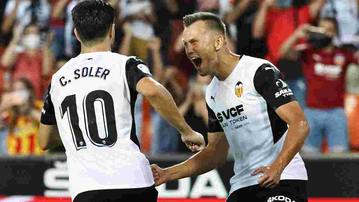 Валенсія у божевільному матчі з двома вилученнями та пенальті втримала  мінімальну перемогу над  Хетафе