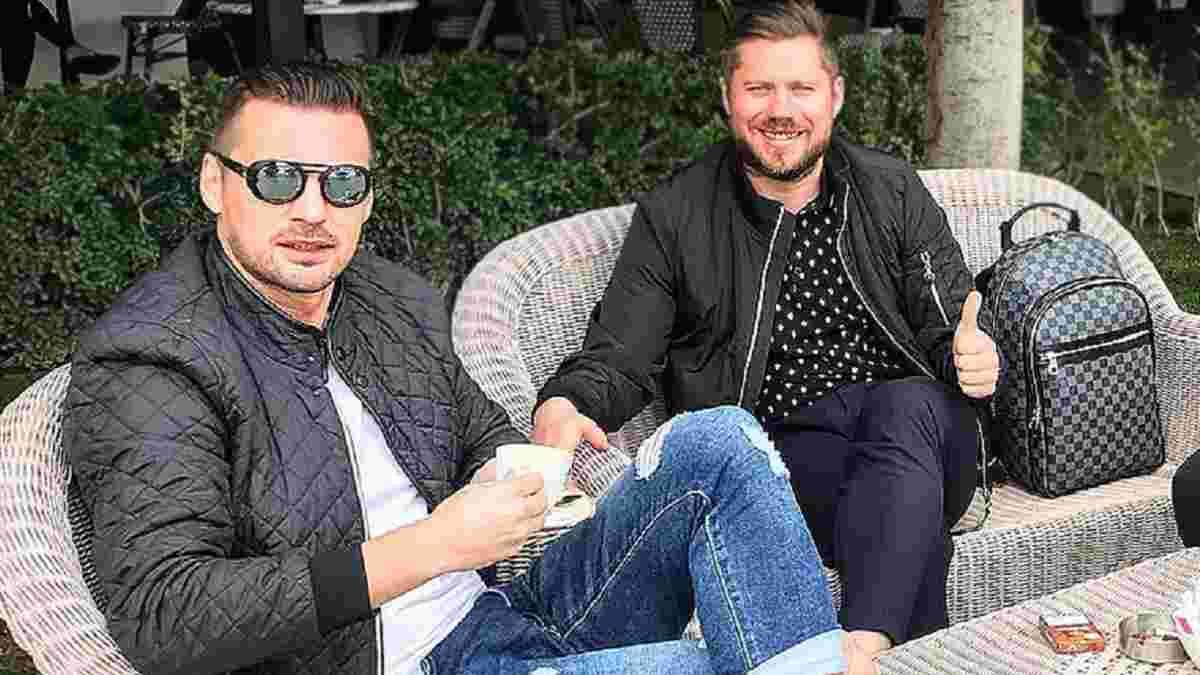 Милевский встретился с экс-тренерами Динамо в киевском пабе