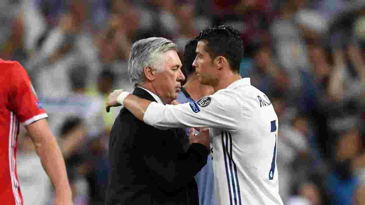 Анчелотти отреагировал на слухи о возвращении Роналду в Реал