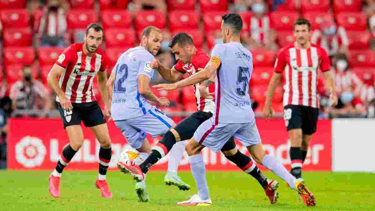 Первые каталонские потери в видеообзоре матча Атлетик – Барселона – 1:1