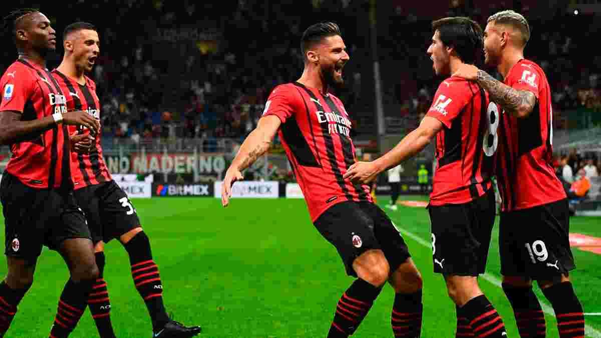 Милан разгромил Кальяри благодаря дебютным голам Жиру и Тонали, Рома эффектно уничтожила Салернитану