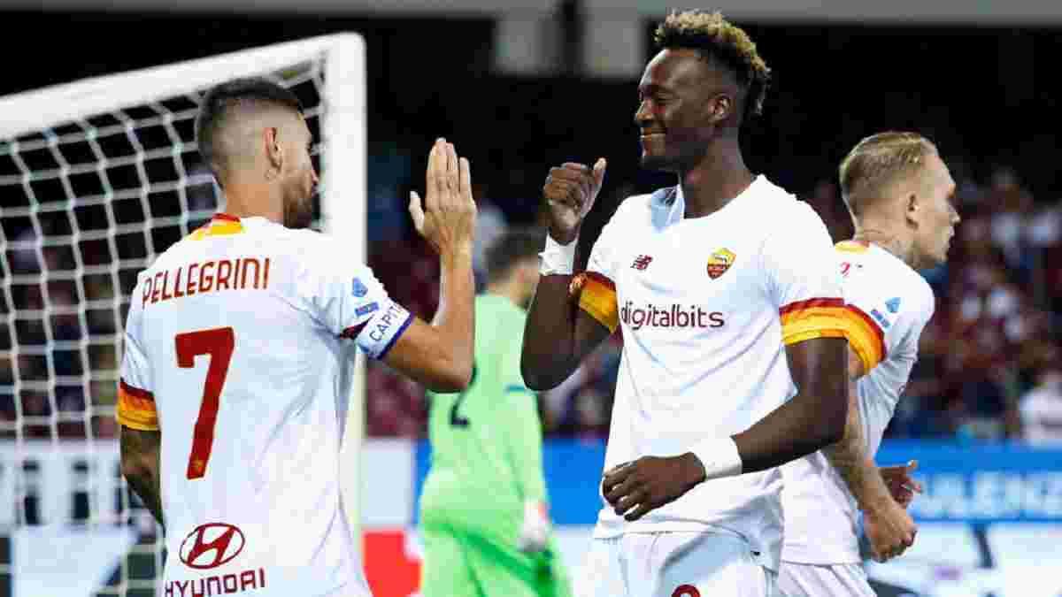 Шедевр капітана і класний дебютний гол Абрахама у відеоогляді матчу Салернітана – Рома – 0:4