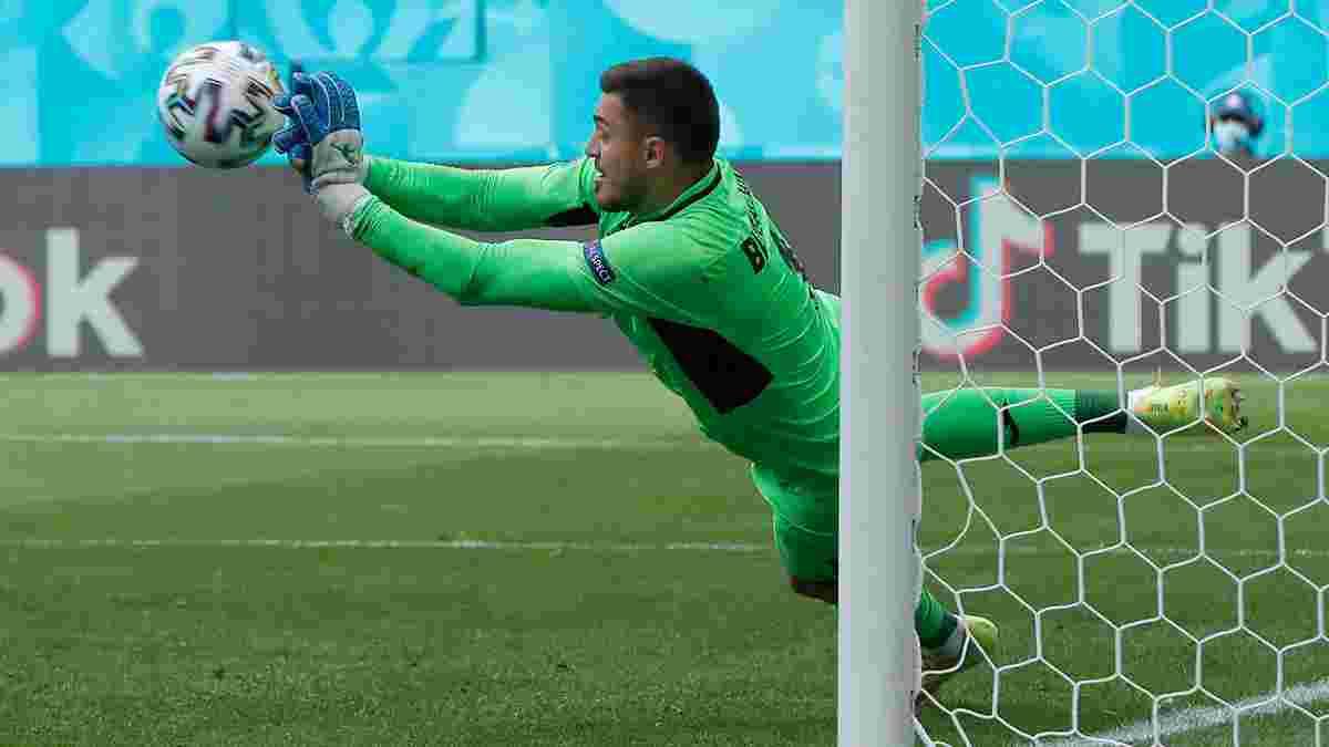 Бущан самокритично оценил свою игру за Украину на Евро-2020