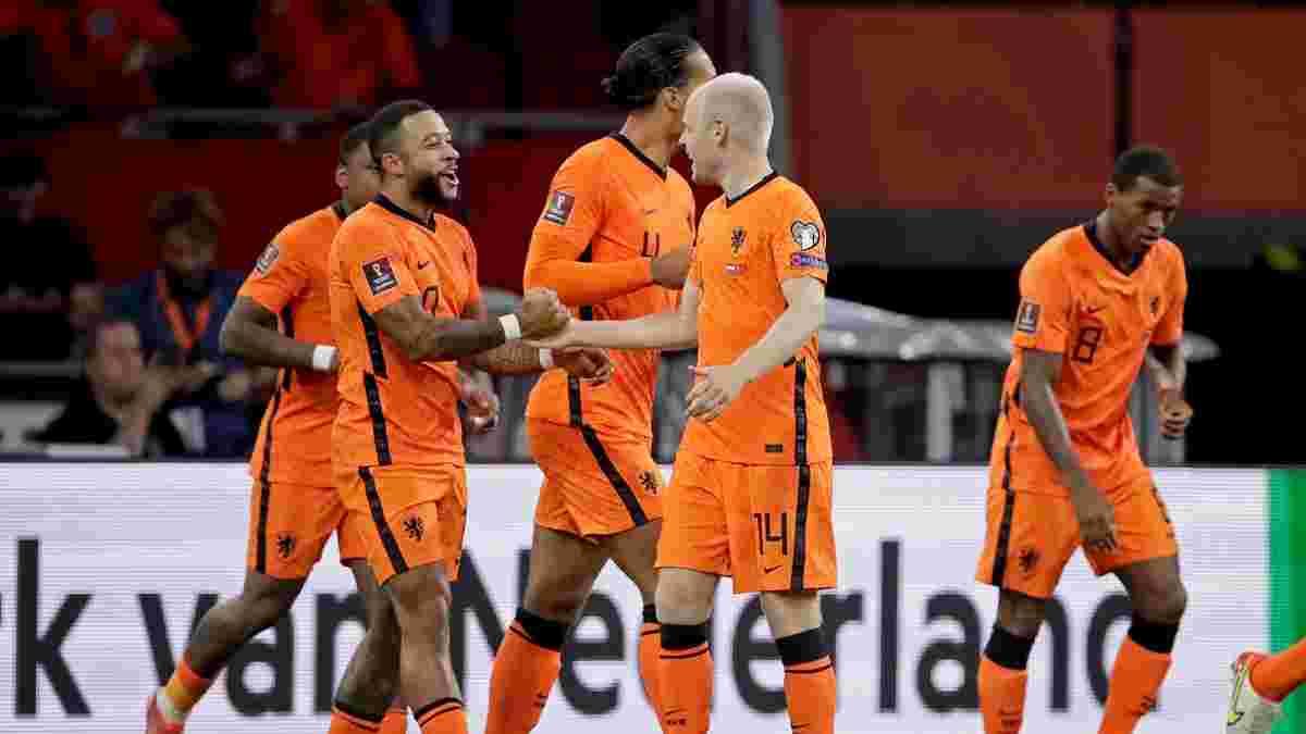 ЧС-2022, відбір: Нідерланди з хет-триком Депая знищили Туреччину, Холанд познущався з Гібралтару, тріумф Хорватії