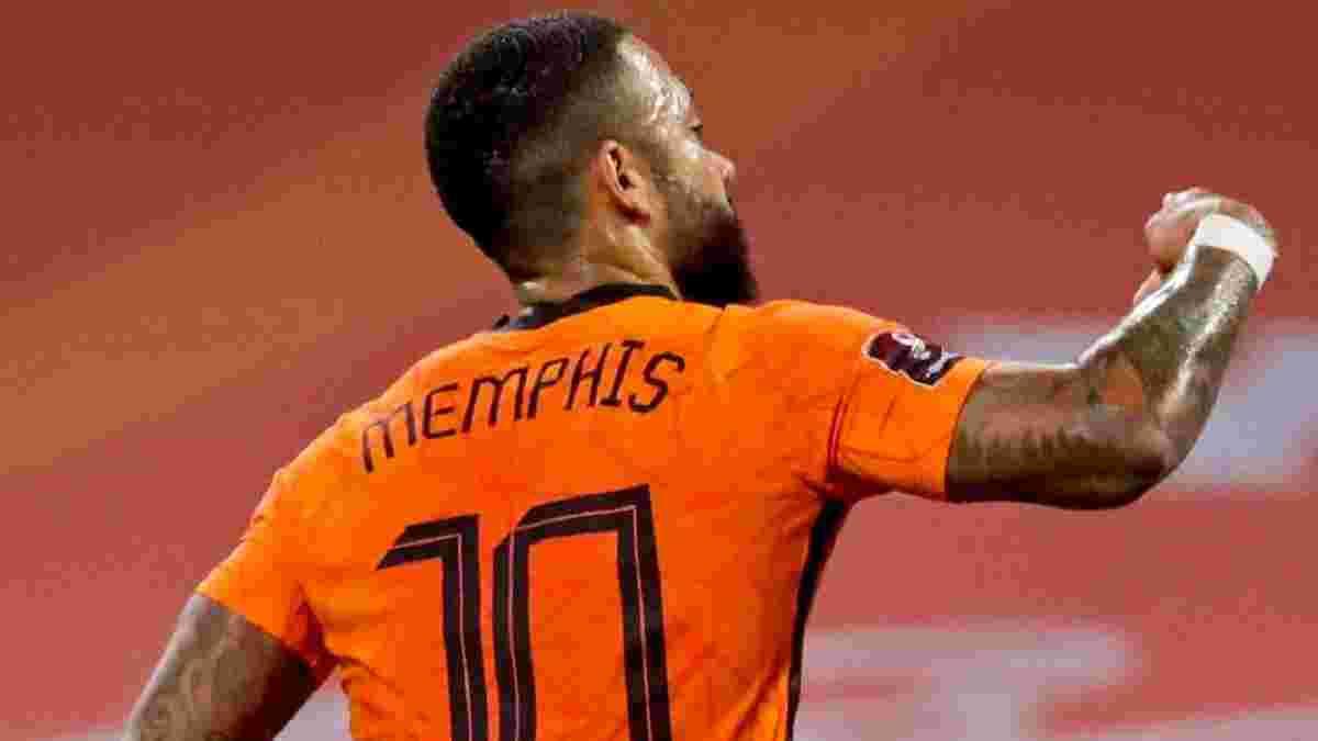 Депай догнал Кройфа по количеству голов в футболке сборной Нидерландов