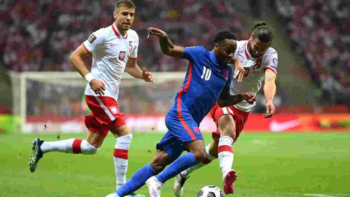 Сборная Англии снова нарвалась на свист за склонение колена – первый тайм против Польши едва не завершился дракой