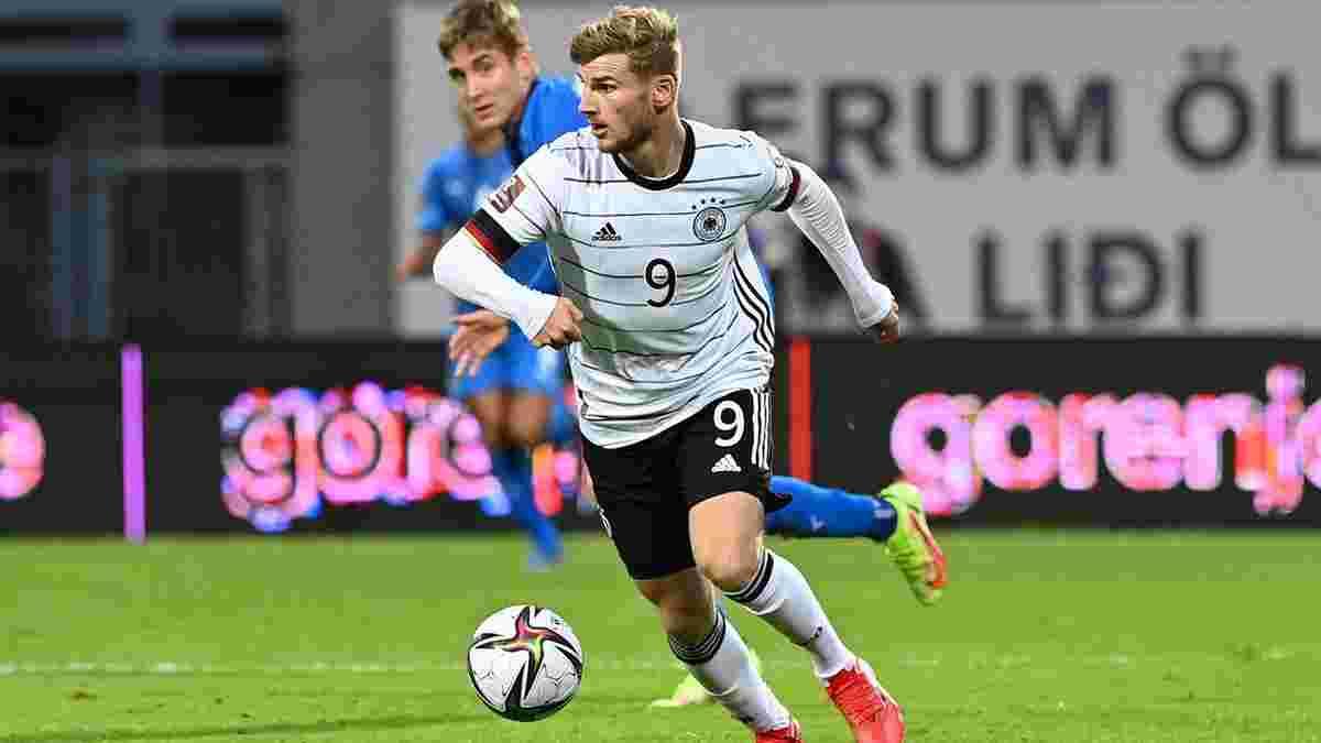Промах Вернера по пустым воротам в видеообзоре матча Исландия – Германия – 0:4