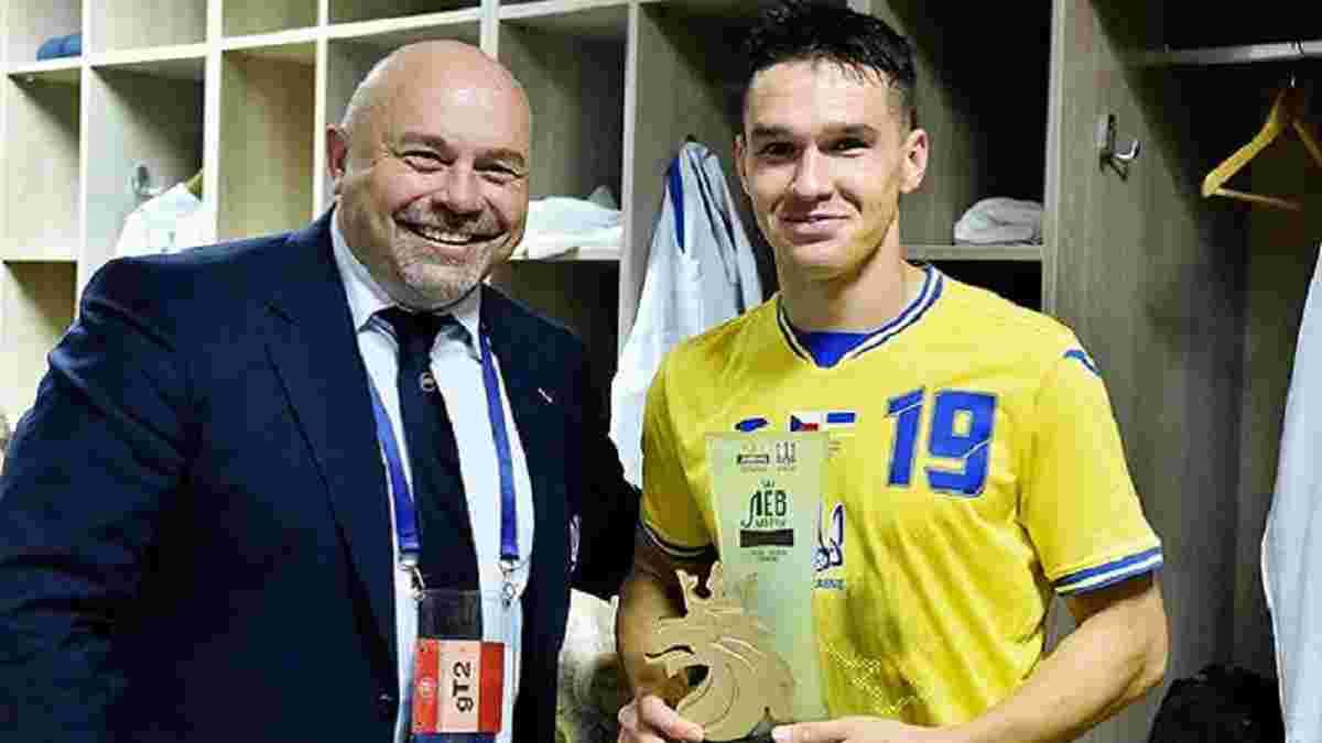 Чехия – Украина: определился лучший игрок матча по версии болельщиков
