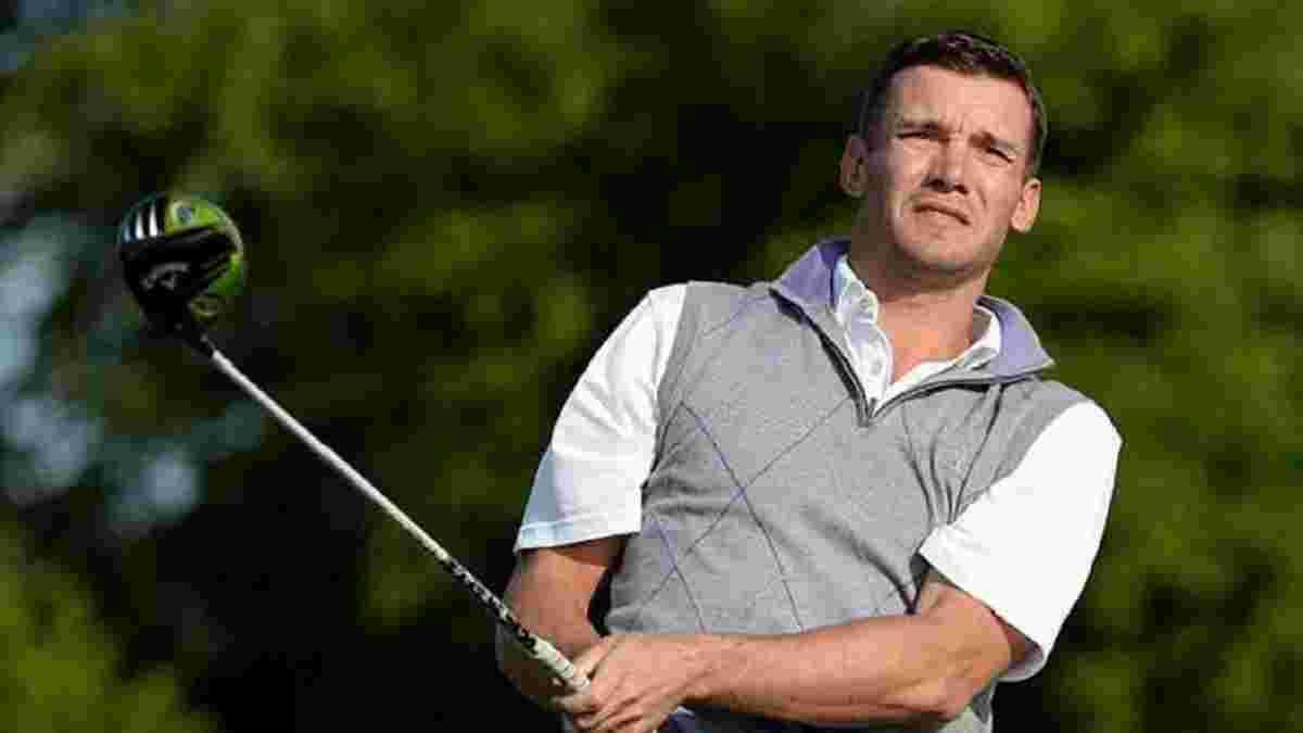 Шевченко с другими легендами спорта принял участие в турнире по гольфу