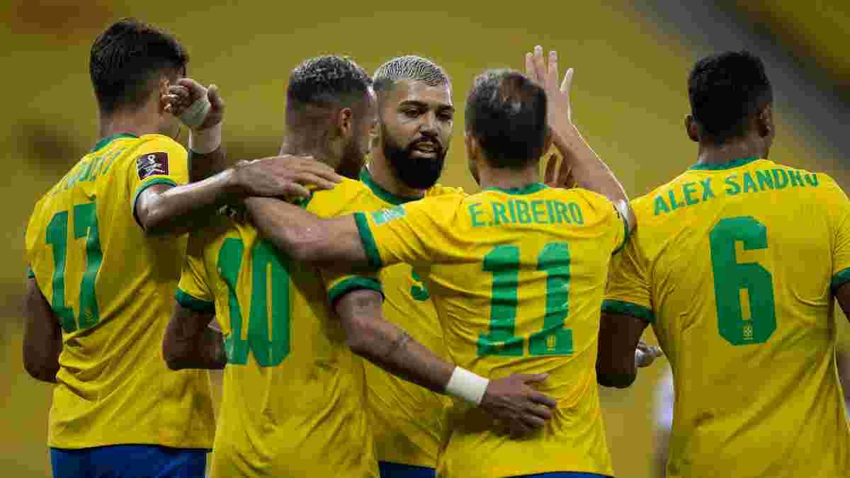 Бразилия повторила континентальный рекорд побед