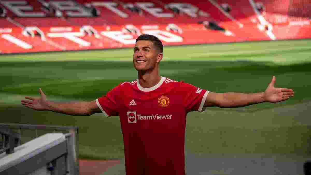 Роналду в стартовому складі дебютує за Манчестер Юнайтед і відразу б'є рекорд АПЛ
