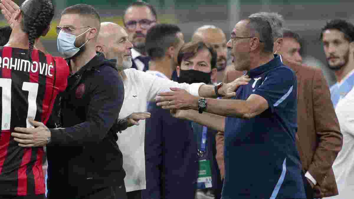Сарри получил наказание за участие в массовой стычке Милана и Лацио