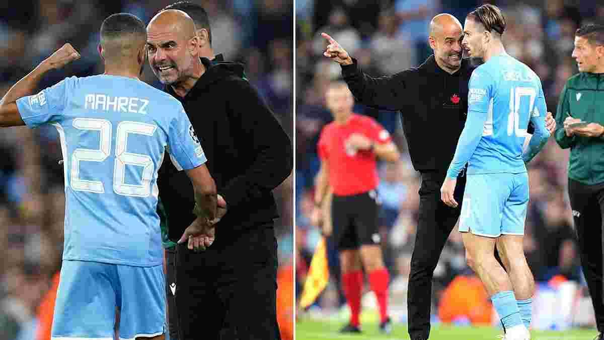 Гвардиола жестко отчитал двух звезд Манчестер Сити во время матча с РБ Лейпциг – у испанца есть объяснение