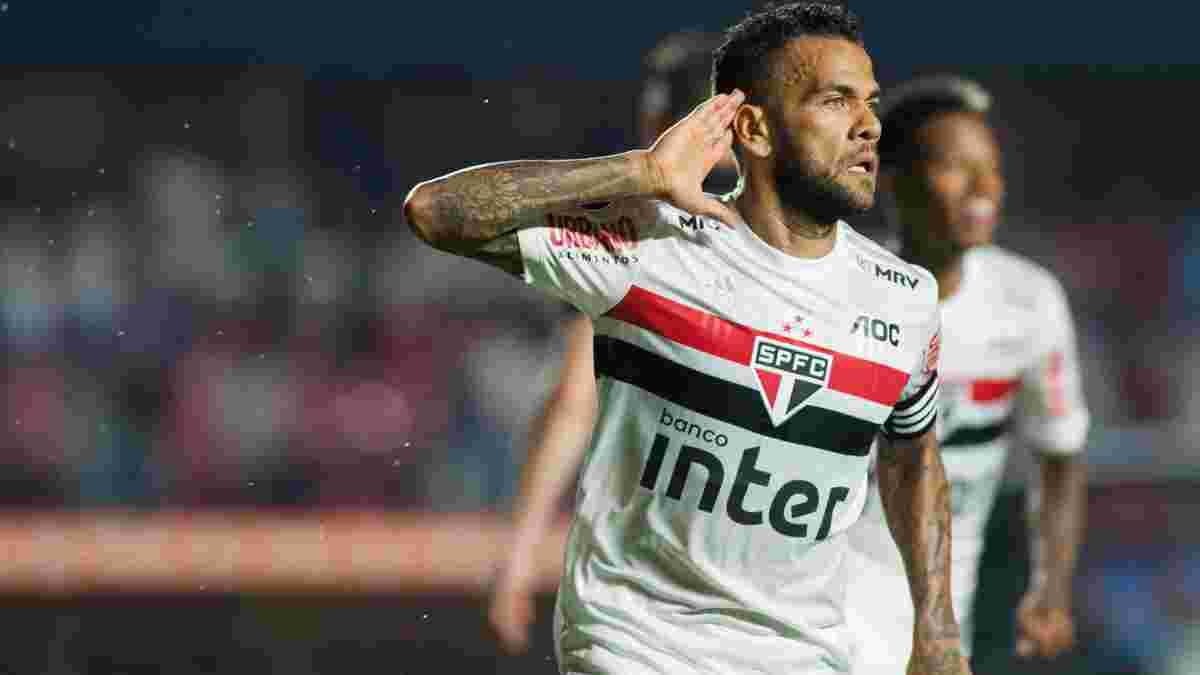 Дані Алвес офіційно розірвав контракт з Сан-Паулу та став вільним агентом