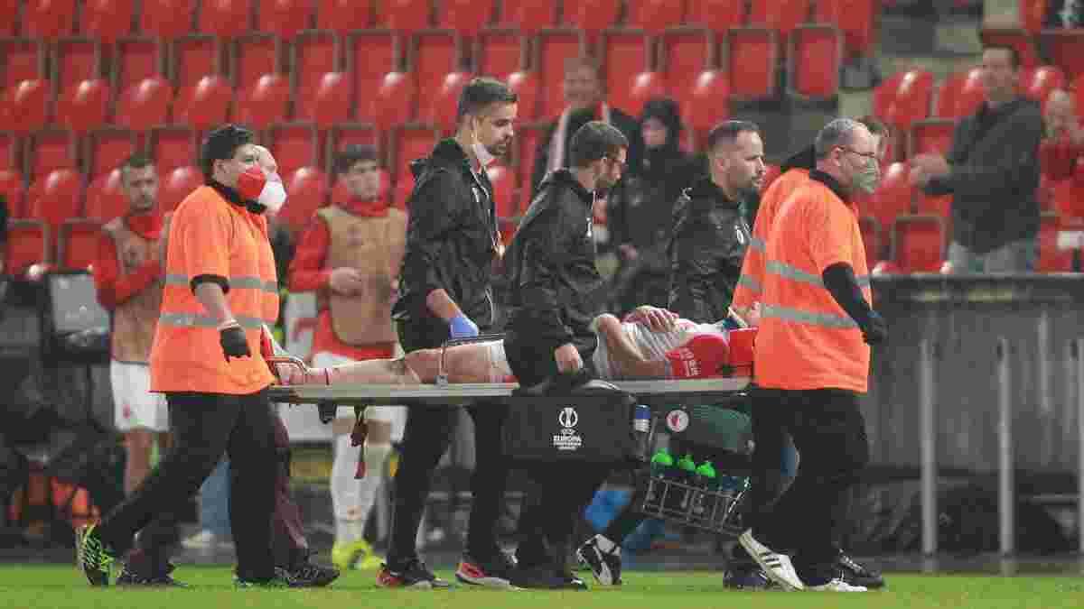 Славия красиво поддержала Качарабу – украинец получил жуткую травму в Лиге конференций