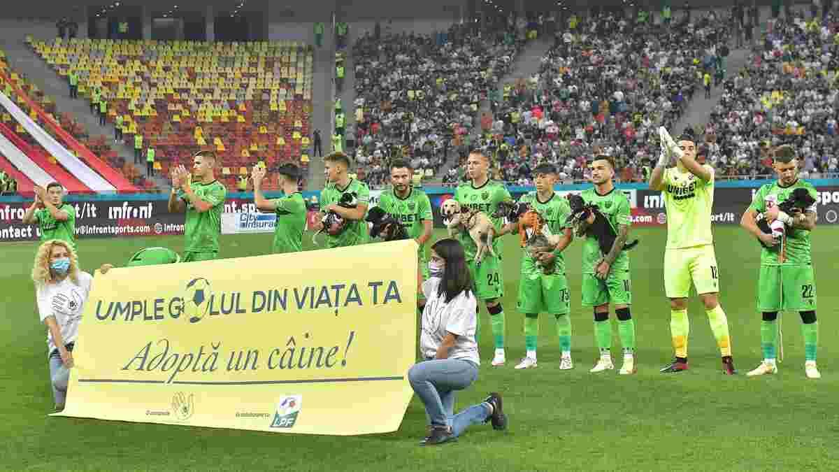 Динамо Бухарест влаштувало акцію на підтримку тварин-безхатьків