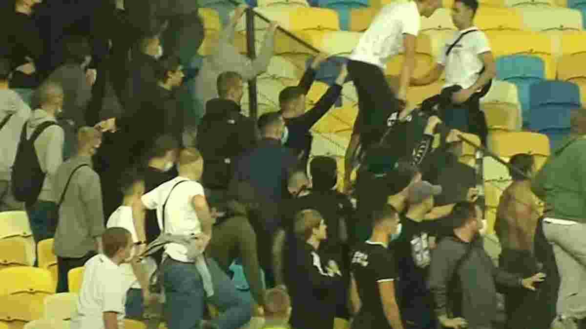 Фанаты Динамо и Александрии устроили драку на НСК Олимпийский – не обошлось без крови
