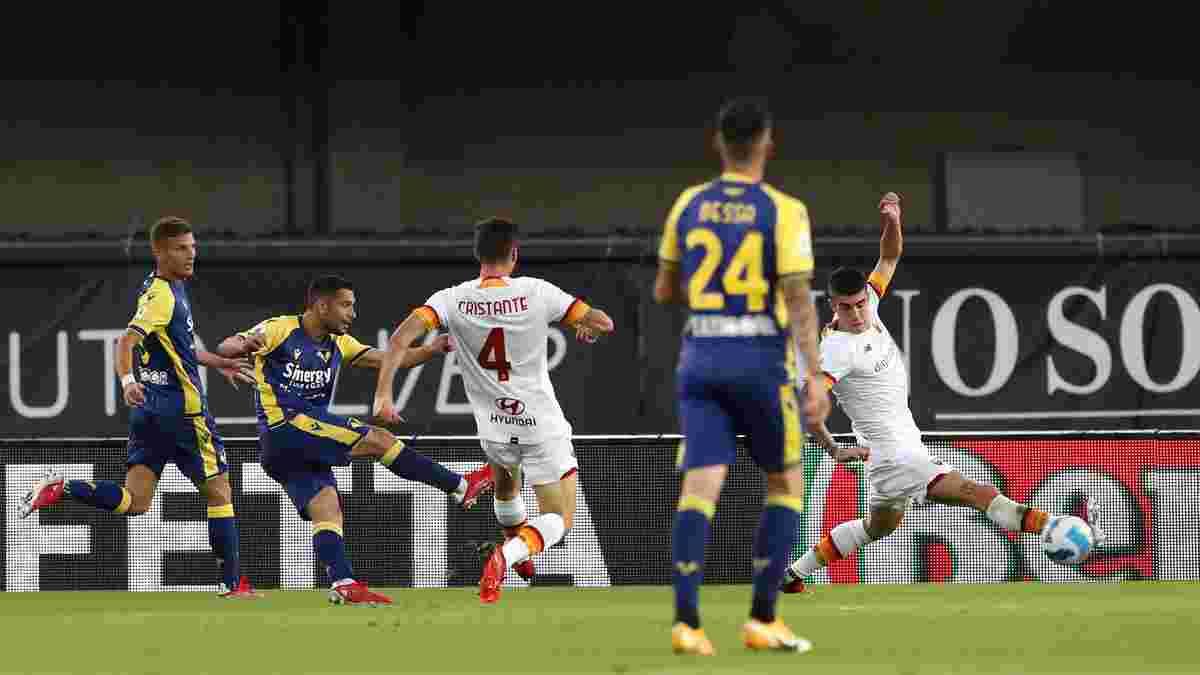 Верона перемогла Рому в перестрілці з п'ятьма голами, Лаціо на останніх хвилинах врятувався від поразки Кальярі