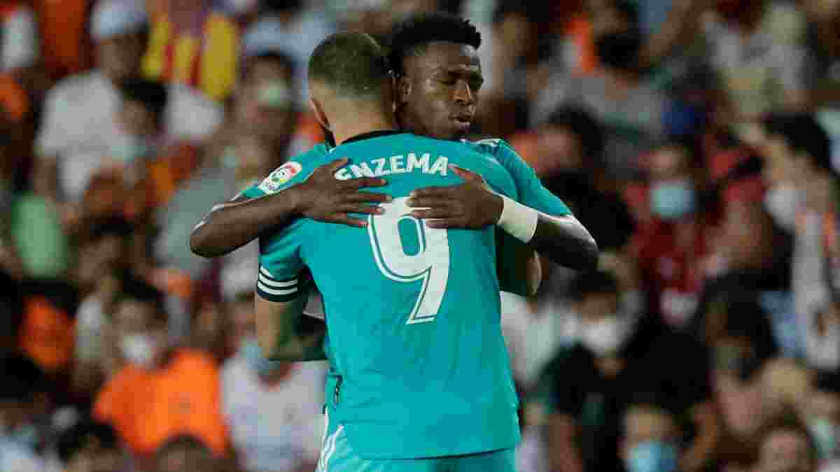 Реал видряпав вольову перемогу над Валенсією – Бензема та Вінісіус зробили Мадрид одноосібним лідером