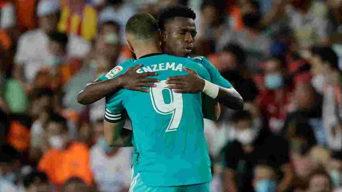 Реал выцарапал волевую победу над Валенсией – Бензема и Винисиус сделали Мадрид единоличным лидером