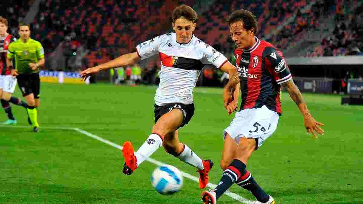 Болонья розписала нічию з Дженоа у матчі з двома пенальті на останніх хвилинах – шотландець Хікі забив історичний гол
