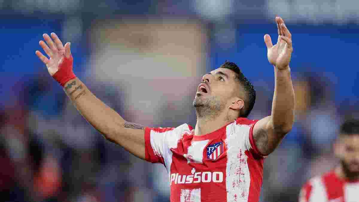 Атлетико благодаря дублю Суареса одержал волевую победу над Хетафе и установил новый рекорд Ла Лиги