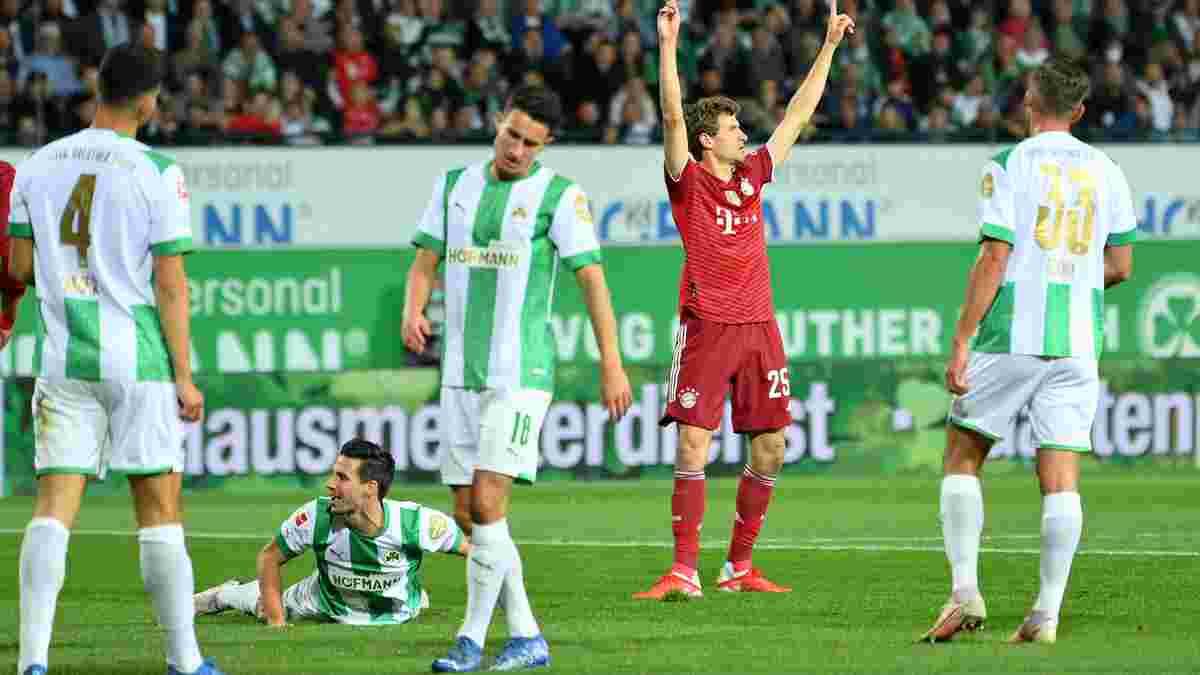 Бавария в меньшинстве победила Гройтер Фюрт – Мюнхен сохранил силы на Динамо, Мюллер вошел в топ-3 бомбардиров клуба