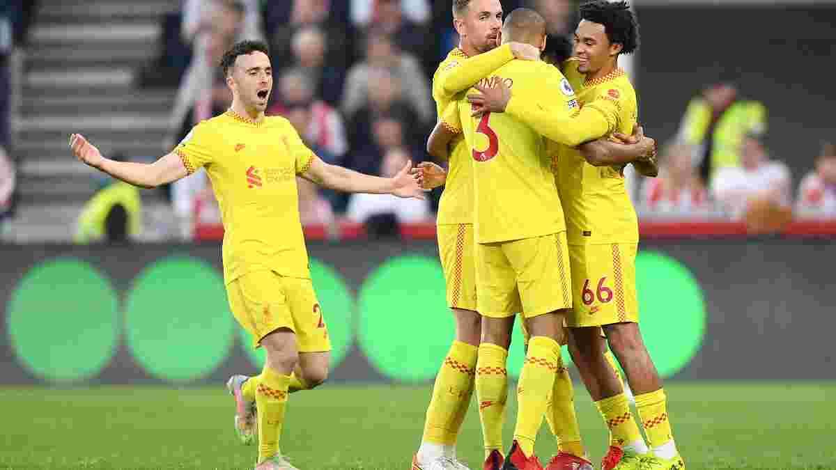 Ліверпуль розписав вогняну нічию із Брентфордом та очолив турнірну таблицю АПЛ