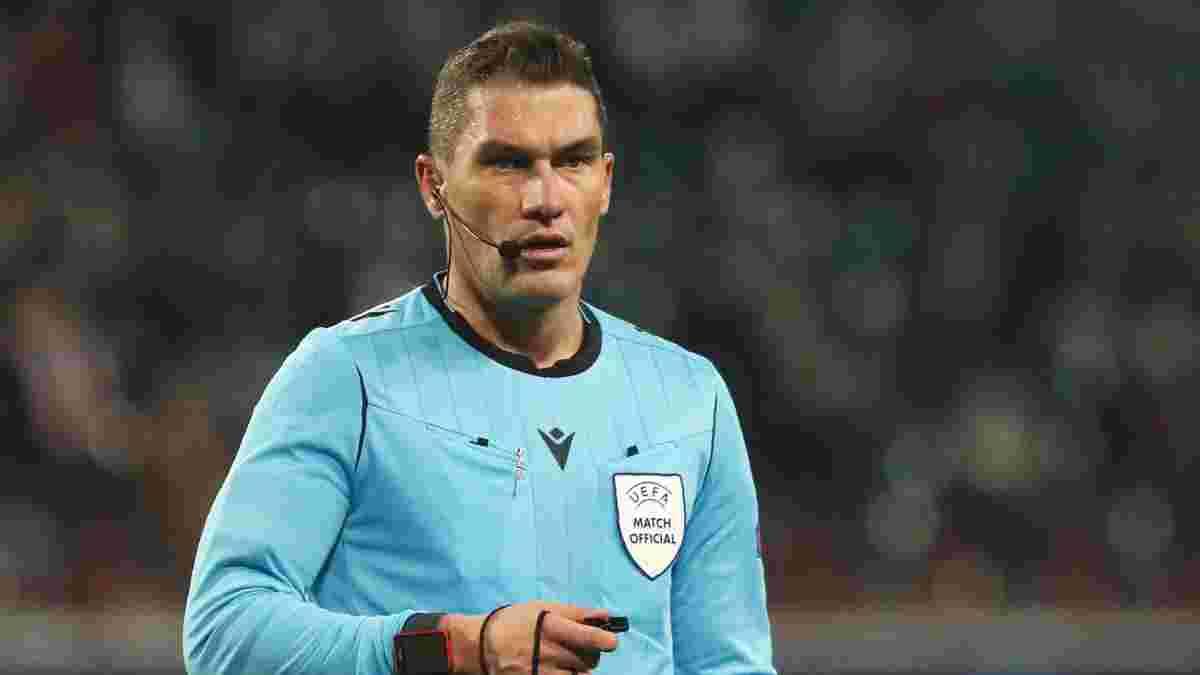 Шахтер – Интер: поединок Лиги чемпионов обслужит арбитр, который ставил пенальти в ворота сборной Украины