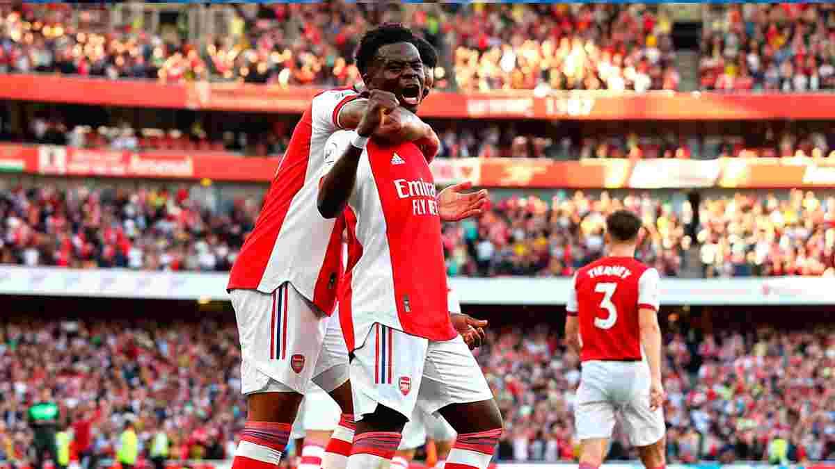 """Арсенал впевнено переміг Тоттенхем у дербі Північного Лондона – """"шпори"""" пропустили три голи у третьому матчі АПЛ поспіль"""
