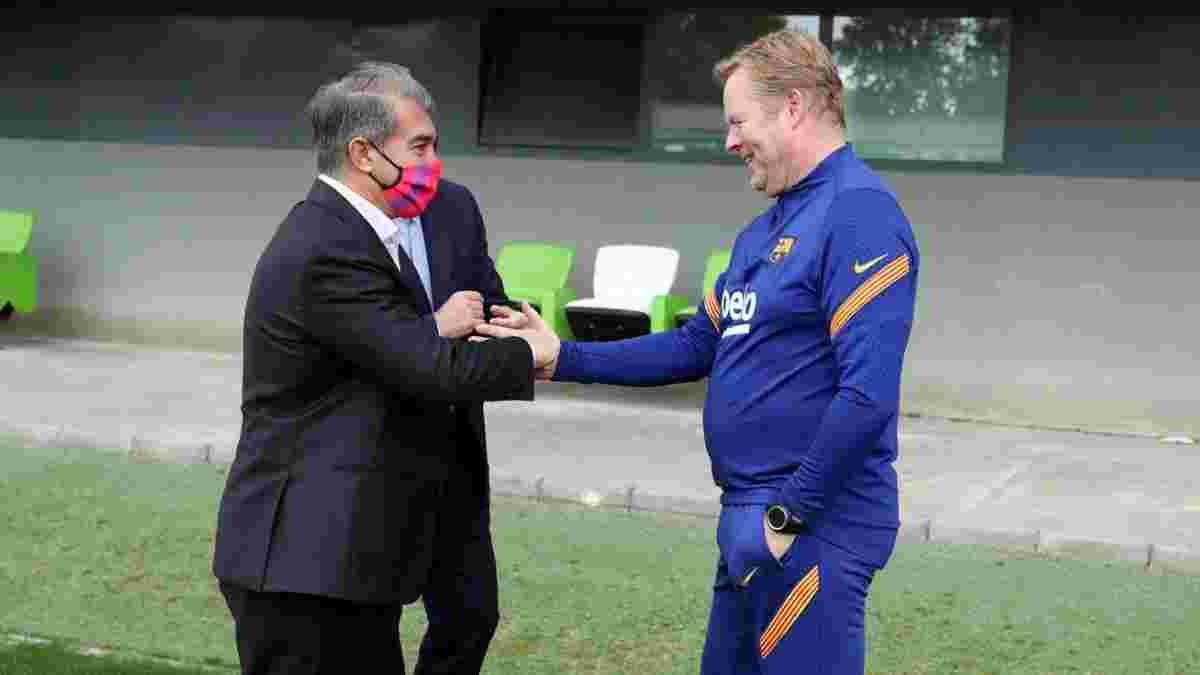 Лапорта поспілкувався з гравцями Барселони, проігнорувавши Кумана – тренер чекає дуелі з Динамо і не виключив відставки