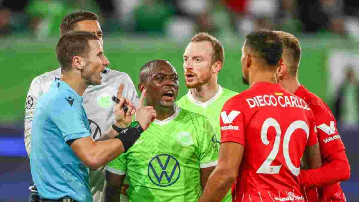 """""""Такое впечатление, что судьи впервые работали с VAR"""": Вольфсбург возмущен скандальным пенальти в матче с Севильей"""