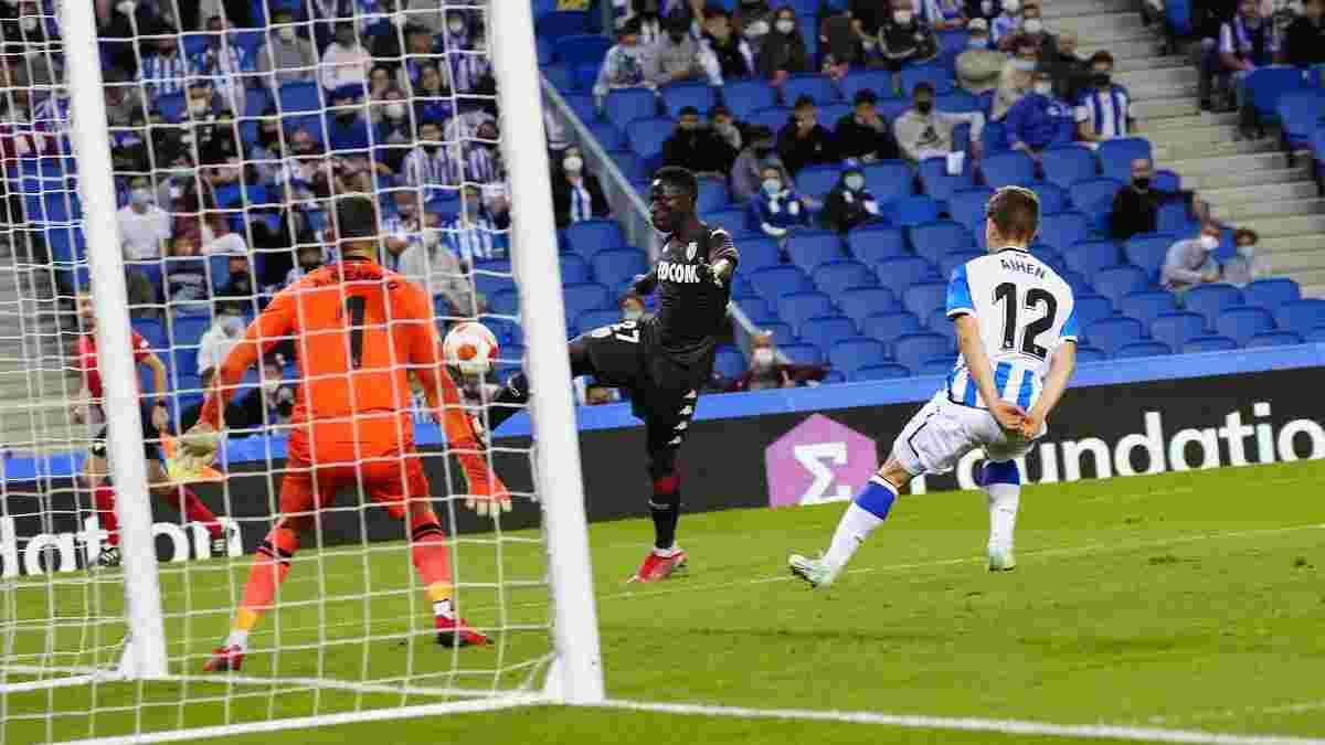 Лига Европы: Монако и Реал Сосьедад поделили очки, Рейнджерс уступил пражской Спарте, разгромные победы ПСВ и Лиона