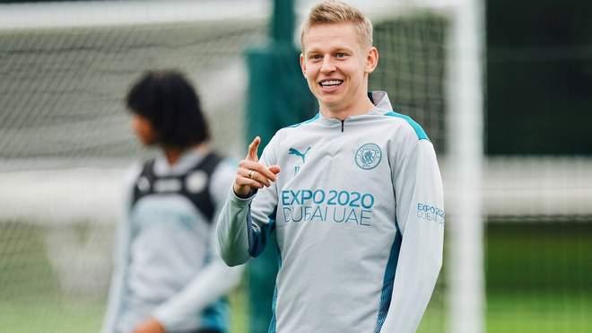 Зинченко вернулся к тренировкам с Ман Сити после травмы