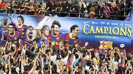 """Как """"Барселону"""" встречали в Каталонии. ФОТО"""