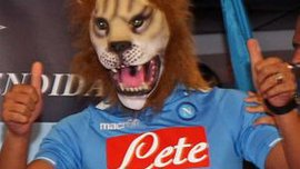 """Інлер прийшов на презентацію в """"Наполі"""" у масці лева. ВІДЕО"""