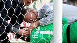 """Жахлива травма воротаря, який зупинив """"Чорноморець"""". ФОТО. ВІДЕО"""