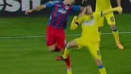 В Румынии игрока дисквалифицировали на 16 матчей за удар соперника локтем. ВИДЕО