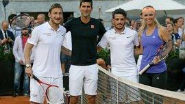 Тотті з Джоковічем влаштували тенісне шоу (ВІДЕО, ФОТО)