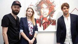 Дочь Берлускони и Поли открыли выставку художника No Curves (ВИДЕО)