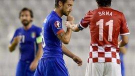 Во время матча Хорватия - Италия на поле заметили свастику (+ФОТО)