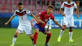 Серб пробросил между ног защитнику Германии мяч и отправил его в сетку (ВИДЕО)