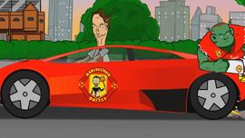 Медленное Феррари со Шреком и другие герои АПЛ - в блестящей пародии 2 тура (ВИДЕО)