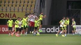 Испания провела тренировку в Македонии (ВИДЕО)