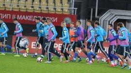 Тренировка сборной Украины перед матчем с Македонией (ВИДЕО)