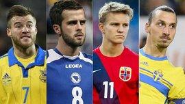 Ярмоленко в компании Ибрагимовича и Бендтнера - УЕФА выделил лидеров плей-офф Евро-2016